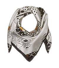 Echo Merry Go Round Silk Square Silver Scarves