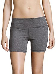 Reebok Premiere Heathered Banded Waist Shorts Charcoal
