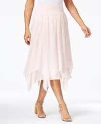 Style And Co Co. Petite Handkerchief Hem A Line Skirt Only At Macy's Sea Lily