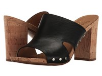 Franco Sarto Jeanette Black Polly Lux Leather Women's Sandals