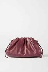 Bottega Veneta The Pouch Small Gathered Leather Clutch Burgundy