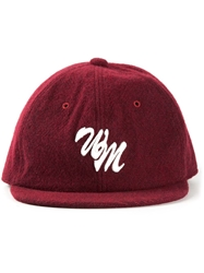 White Mountaineering Felted Baseball Cap Red