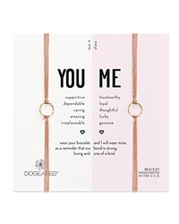 Dogeared You And Me Friendship Bracelets Set Of 2 Taupe