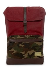Hex Accessories Stinson Print And Denim Backpack Red