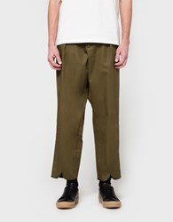 J.W.Anderson Pleat Back Trouser Military Green