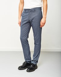 Selected Zero Pattern Trouser Navy