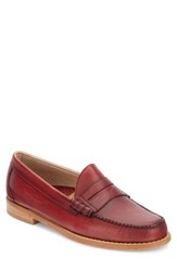 G.H. Bass And Co. 'Larson Weejuns' Penny Loafer Red Red Leather