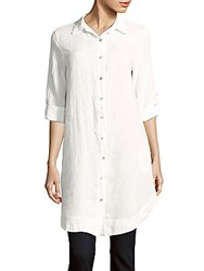 Saks Fifth Avenue Duster Fit Linen Tunic Silver
