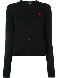 Love Moschino Round Neck Cardigan Black