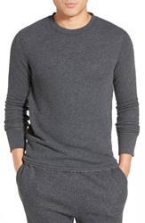 Relwen Raw Hem Crewneck Thermal Charcoal