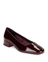 The Flexx Longly Polished Patent Leather Block Heels Wine