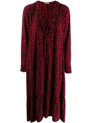 Zadig And Voltaire Rikota Print Dress Red