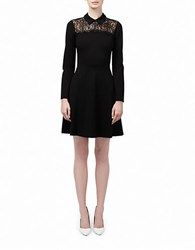Erin Fetherston Lace Accented Shirtdress Black