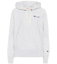 Champion Cotton Hoodie Grey