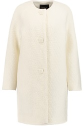 Raoul Wool Blend Boucle Coat White