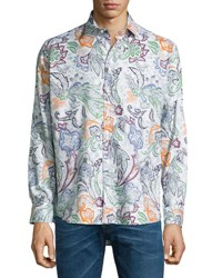 Etro Large Paisley Printed Sport Shirt Multicolor