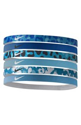 Nike Sport Headbands Blue 6 Pack Blue Royal