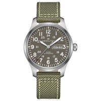 Hamilton H70535081 'S Khaki Field Automatic Day Date Fabric Strap Watch Green