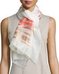 Blurred Horizon Scarf Bellini Multi Women's Bellini Multi Lafayette 148 New York