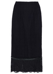 Schumacher Navy Lace Pencil Skirt