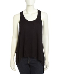 W By Wilt Paneled Slouchy Handkerchief Tank Black