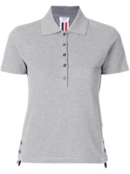 Thom Browne Side Slit Polo Shirt Grey