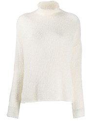 Transit Turtle Neck Jumper White