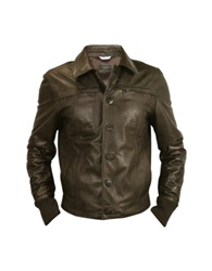 Forzieri Men's Dark Brown Leather Jacket