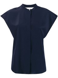 Vince Short Sleeved Blouse Blue
