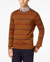 Tommy Hilfiger Men's Signature Striped Sweater Bison Heather