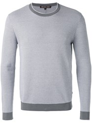 Michael Kors Crew Neck Jumper Men Cotton Xl Grey