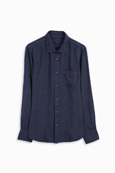 120 Lino Men S Striped Linen Shirt Boutique1 Navy