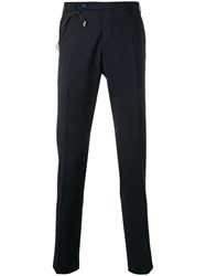 Berwich Tailored Slim Fit Trousers Blue