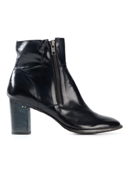 Silvano Sassetti Zip Detail Ankle Boots Black