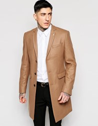 Noose And Monkey Wool Overcoat Beige