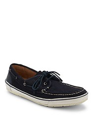 John Varvatos Redding Leather Boat Shoes Desert Sand