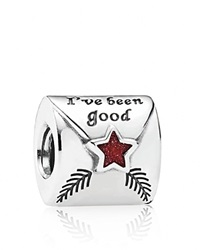 Pandora Design Pandora Charm Sterling Silver And Enamel Letter To Santa Moments Collection Red Silver