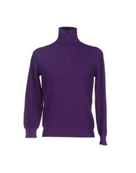 Cruciani Knitwear Turtlenecks Men Purple