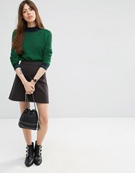 Asos Cord A Line Mini Skirt In Grey Grey