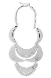 Natasha Metal Statement Necklace Silver