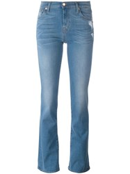 7 For All Mankind Stonewashed Bootcut Jeans Blue