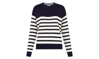 Whistles Slouchy Breton Stripe Jumper Multicolour