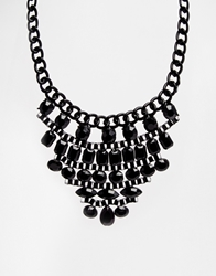 Paper Dolls Staggered Collar Necklace Black