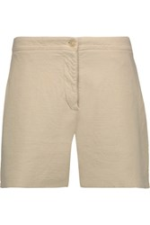 Acne Studios Gioia Cotton And Linen Blend Shorts Beige