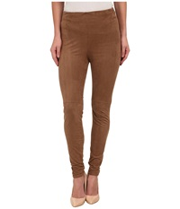 Lysse High Waist Suede Leggings Latte Women's Casual Pants Brown