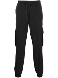 Juun.J Straight Leg Cargo Trousers Black