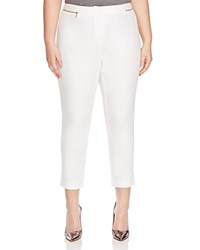 Calvin Klein Plus Cropped Pants Soft White