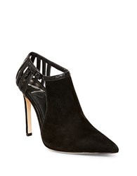 Brian Atwood Oria Cutout Suede Booties Black