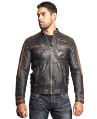 Affliction Built For Speed Leather Moto Jacket