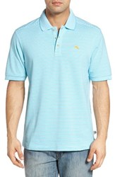 Tommy Bahama Men's Big And Tall 'Emfielder' Stripe Pima Cotton Blend Polo
